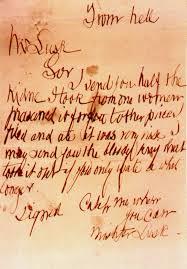 Brev från Jack the Ripper (?) till Scotland Yard