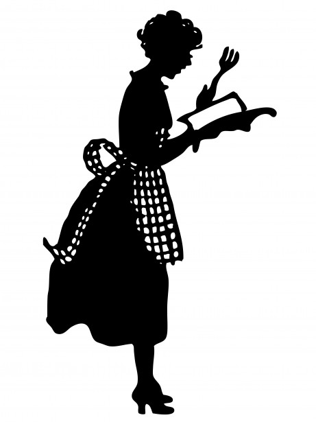housewife-with-cook-book